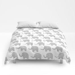 Grey Elephant Parade Comforters