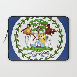 Belize flag emblem Laptop Sleeve