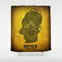 homer Shower Curtains featuring Homer by Matthew Cridland