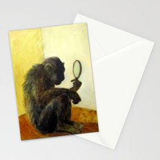 Monkey in the Mirror Stationery Cards