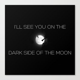 The Dark Side of the Super Moon Canvas Print