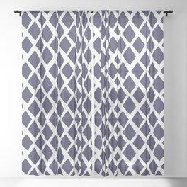 Rhombus Blue And White Sheer Curtain