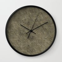 concrete Wall Clocks featuring Concrete by Texture