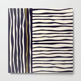 Zebra style animal print pattern Metal Print