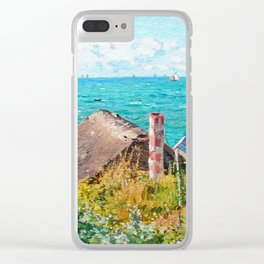 Claude Monet The Cabin At Saint-Adresse Clear iPhone Case