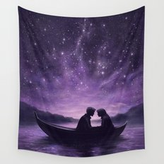Lovers Under A Starlit Sky Wall Tapestry