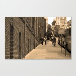 San Francisco Street Scene 2007 Canvas Print