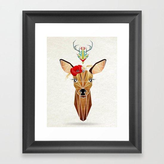 biche oh ma biche ! Framed Art Print