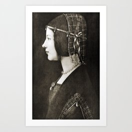 Bianca Sforza by Leonardo da Vinci Art Print