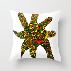 Finger Palm Tree Throw Pillow