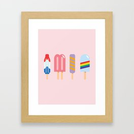 Popsicle - Four Pack Pink #267 Framed Art Print