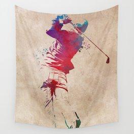 Golf player sport art #golf #sport Wall Tapestry