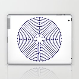 Cathedral of Our Lady of Chartres Labyrinth - Blue Laptop & iPad Skin