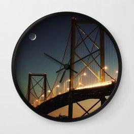 New Moon Bridge Wall Clock