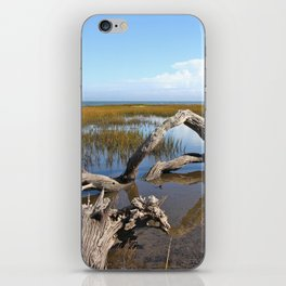 Driftwood, Quiet morning by the Sea iPhone Skin