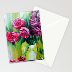 Bouquet of red roses for Valentine Stationery Cards