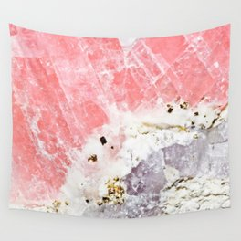 GOLD FLECKED ROSE QUARTZ Wall Tapestry