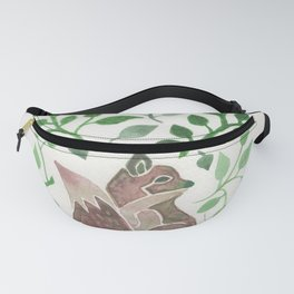 There is a fox in the forest painting Fanny Pack