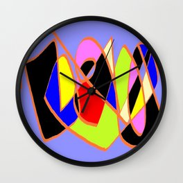 Multicolor blue ign Wall Clock