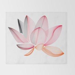 Lotus national Vietnam Throw Blanket