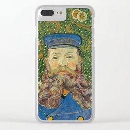 Portrait of the Postman Joseph Roulin by Vincent van Gogh Clear iPhone Case