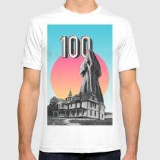100 Nuns MEDIUM White Mens Fitted Tee