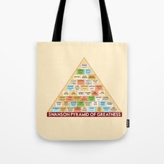 ron swanson's pyramid of greatness Tote Bag