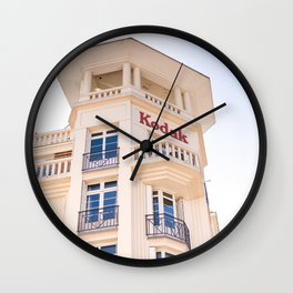 Kodak building in Reims, France Wall Clock