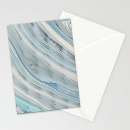 Soft Blue Aqua Marble Elegance Stationery Cards