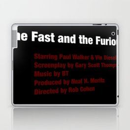 The Fast and the Furious cast & crew Laptop & iPad Skin