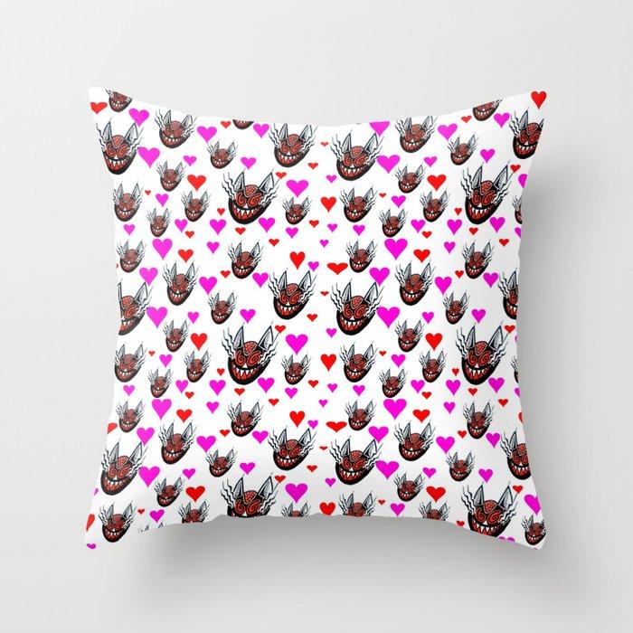 Sneaky Cat Face Throw Pillow