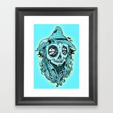 scared crow Framed Art Print