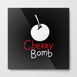 Black cherry bomb Metal Print