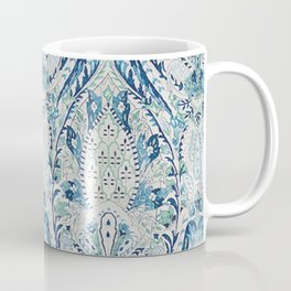 Green Blue Leaf Flower Paisley Coffee Mug