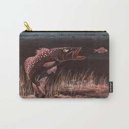 Trout Attack In Brown Carry-All Pouch