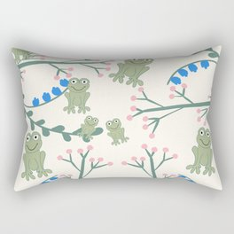 Frogs in the meadow  Rectangular Pillow