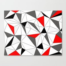 Geo - red, gray, white and black Canvas Print