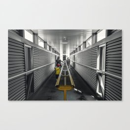 kid in yellow Canvas Print