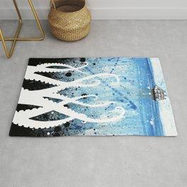 Kraken Watercolor Rug