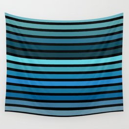 Cool Blue Color Palette Wall Tapestry