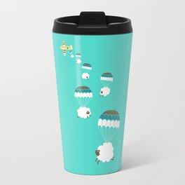 Sheepy clouds Travel Mug