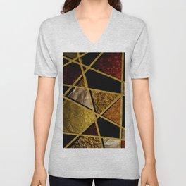 Abstract #468 Unisex V-Neck