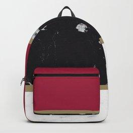 Marble Mix Stripes #2 #black #white #red #gold #decor #art #society6 Backpack