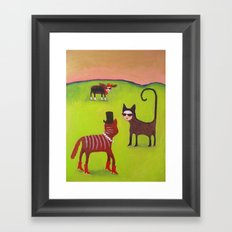 Wishing I was in Cannes Framed Art Print