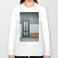 bathroom Long Sleeve T-shirts featuring Bathroom Doors by Agrofilms
