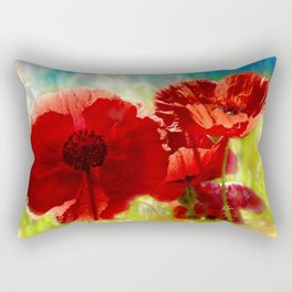 Sun Baked Poppies Rectangular Pillow