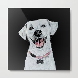 Smiling Dog Metal Print