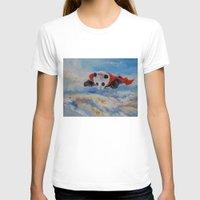 superhero T-shirts featuring Panda Superhero by Michael Creese