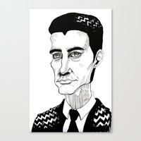 dale cooper Canvas Prints featuring Cooper by Simone Bellenoit : Art & Illustration