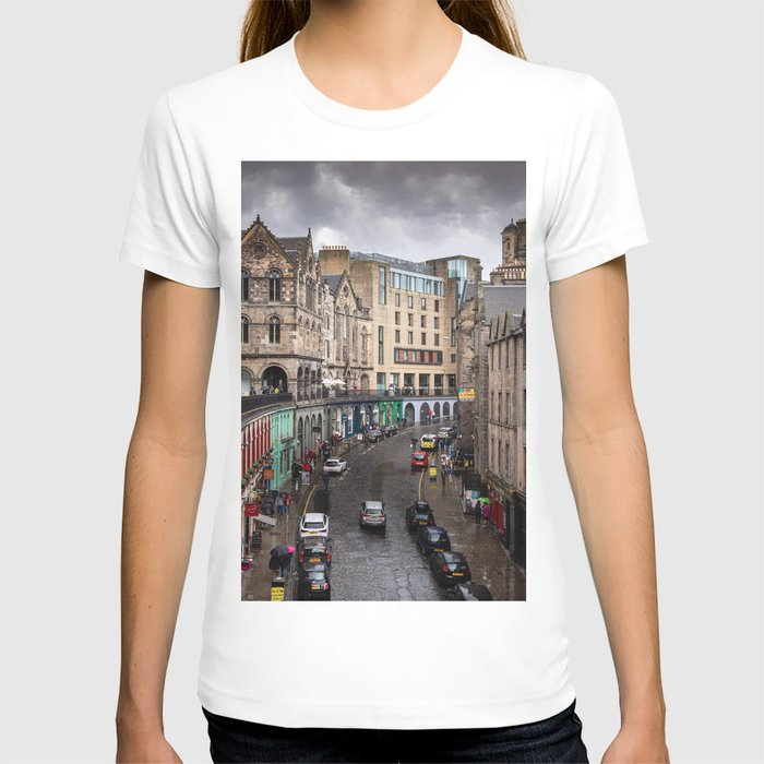Victoria Street in Edinburgh, Scotland T-shirt